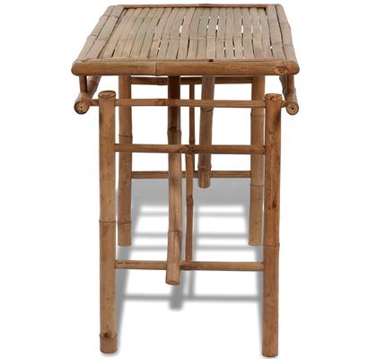 arredo bambù +tavolo +esterno +giardino