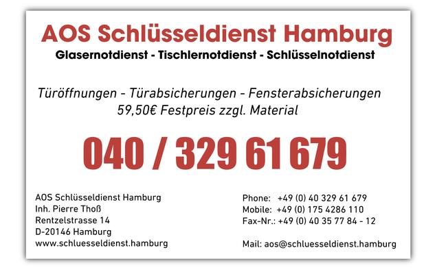 Wir machen viel, für unser Hamburg und das als 24 Std. NOTDIENST