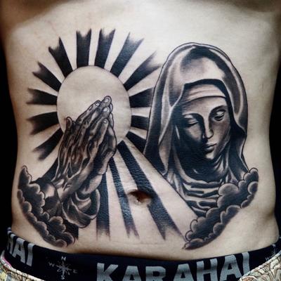 マリア,合掌,プレイングハンド,タトゥー,刺青,tattoo,埼玉,大宮,浦和,takuya