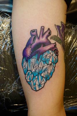 心臓,Heart,glass,neotraditionaltattoo,埼玉,富士見市,大宮,浦和,TAKUYA