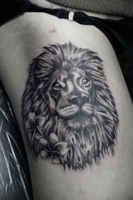 ライオン,タトゥー,刺青,埼玉,大宮,ジェイドタトゥー