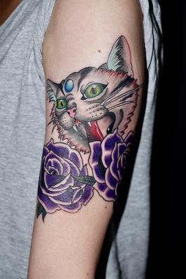 猫 タトゥー takuya 埼玉 さいたま市 大宮 刺青