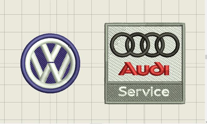 Entwurfsansicht Hemd bestickt besticken lassen StyleWerk Werbetechnik Volkswagen Audi Audiservice