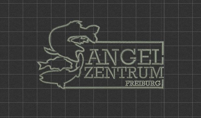 Entwurfsansicht Sweatshirt bestickt besticken lassen StyleWerk Werbetechnik Angelzentrum Freiburg