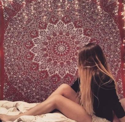 Mandala Wandtuch als Fotohintergrund