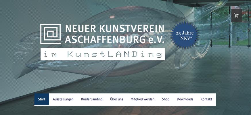 Kunstlanding Webseite und Shop