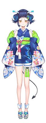 魔鹿つの(cottage所属)夏祭り衣装