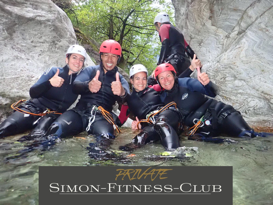 Simon Fitness Canyoning Tessin