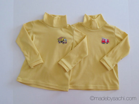 Yellow Turtleneck Shirts for Twin Babies