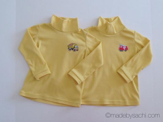 Yellow Turtleneck Shirts for Twin Babies