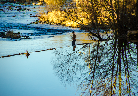 Pêche en hiver  ©M.Hennessy