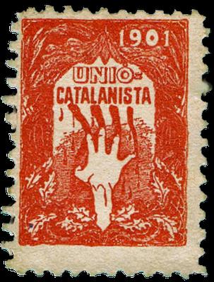 Beitragsmarke der Unio Catalanista, 1901