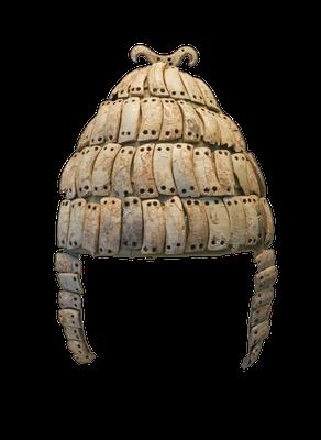 Eberzahnhelm, Mykene, 14. Jahrhundert vor Christus (Quelle: Wikipedia)