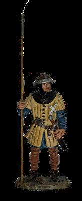 Schottischer Krieger aus der Schlacht bei Bannockburn, 1314 (Rekonstruktion)