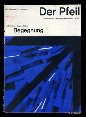 """Ausgabe der Zeitschrift """"Der Pfeil"""" für die Älteren der DJO, 1961"""
