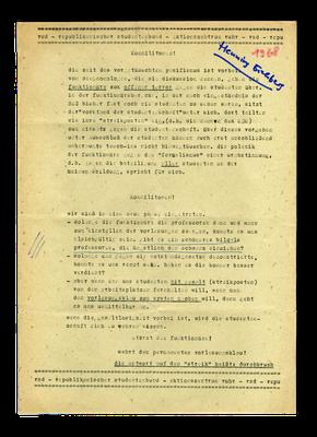 Flugblatt des RSD, 1968