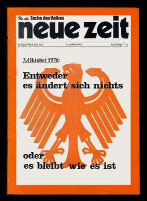 """Ausgabe der NRAO-Zeitschrift """"Neue Zeit"""", 1976"""