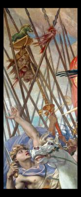 Keltisches Feldzeichen auf einem Historienbild, Panthéon, Paris, zweite Hälfte des 19. Jahrhunderts