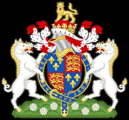 Wappen mit Ebern als Schildhaltern König Richards III., England, 1483-1485 (Quelle: Wikipedia)