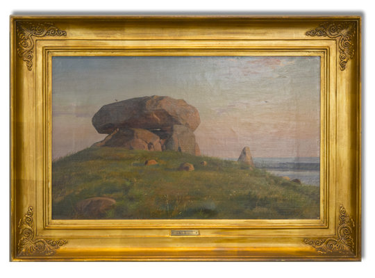 Carl Bloch: Ein Hünengrab auf Refsnaes, 1885