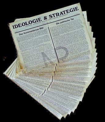 """Ausgaben des NRAO-Kaderorgans """"Ideologie und Strategie"""", ab 1972"""