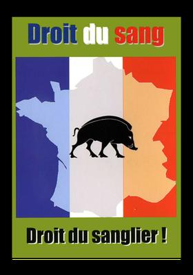 Propagandakarte des französischen Bloc Identitaire, 1990er Jahre