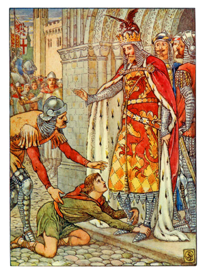 "Illustration von Walter Crane aus ""King Arthur's Knights"", 1911"