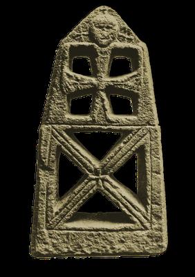 Steinkreuz von Moselkern, fränkisch, 7. Jahrhundert.