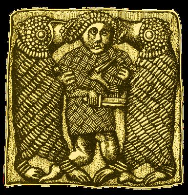 Mann im Kampf mit Bären, Helmbeschlag, Schweden, 7. Jahrhundert