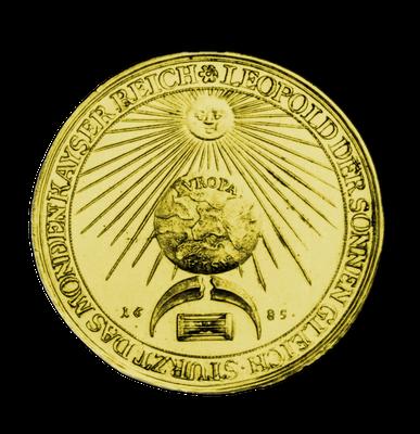 Medaille, geschlagen auf den Sieg über die Türken, 1685