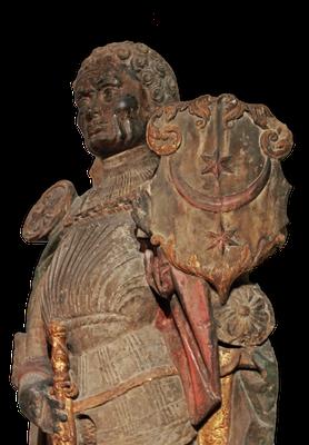 Der Mohr St. Mauritius mit dem Stadtwappen von Halle a. d. S., 16. Jahrhundert