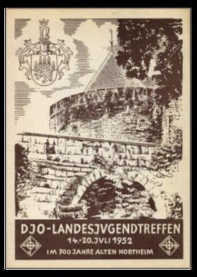 Werbepostkarte der DJO für das Landesjugendtreffen 1952 in Northeim