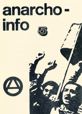 Deckblatt des Anarcho-Info, Frankfurt a. M., 1970.