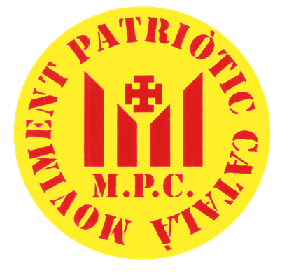 """Aufkleber der """"Patriotischen Katalanischen Bewegung"""", Anfang des 21. Jahrhunderts"""