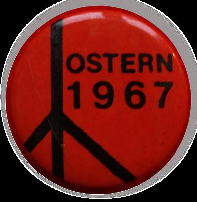 Button der westdeutschen Ostermarsch-Bewegung, 1967