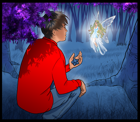"Illustration ""The magic water stone"""