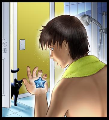 "Titelillustration ""The magic water stone"""