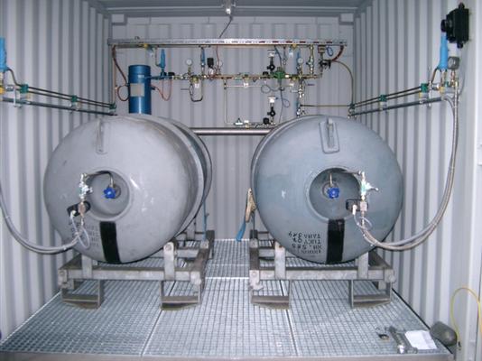 Ammoniaklager (Containerlösung für 2 Fässer)