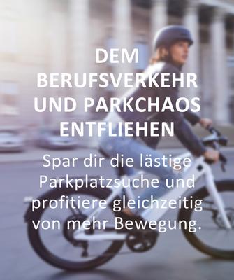 Gründe für den Kauf eines e-Bikes: Dem Berufsverkehr entfliehen