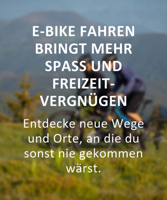Gründe für den Kauf eines e-Bikes: Mehr Freizeitvergnügen
