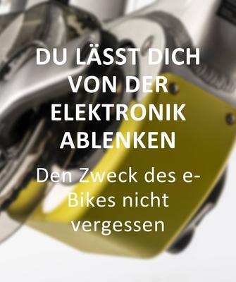 Fehler beim e-Bike Kauf: Du lässt dich von der Elektronik ablenken