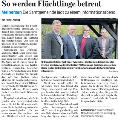 Gifhorner Rundschau vom 19.4.2016