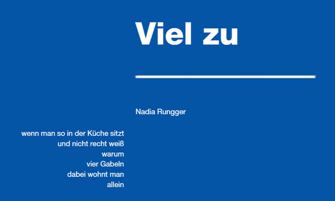 Viel zu. Nadia Rungger