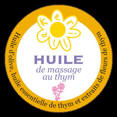 Huile de massage au thym