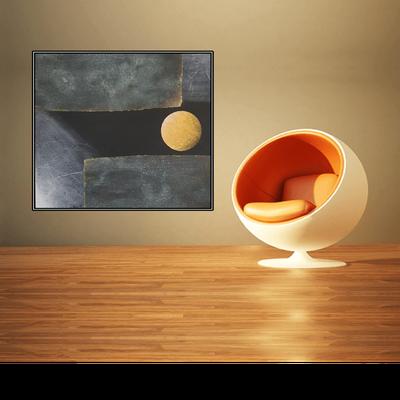 La Luna piena, 80 x 80 mit Rahmen