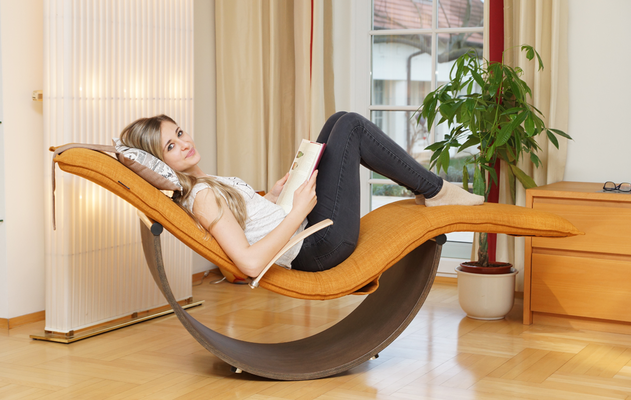 Wellness Swing - Leinenoptik Ocker