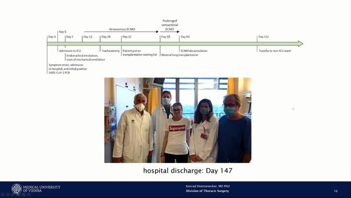 Die Patientin und das LTX Team nach 147 Tagen im AKH