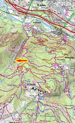 Situation cascade de l'Oula - Guide Maurienne