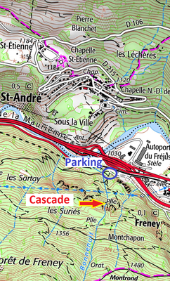 Topo cascade du Frais Nez - Guide Aussois