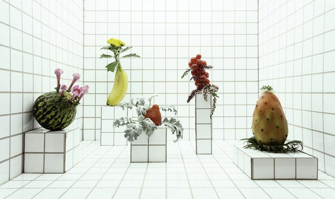 Setbau mit Miniatur-Obst